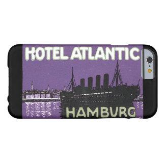 Poster atlántico del viaje de Hamburg_Vintage del Funda Barely There iPhone 6