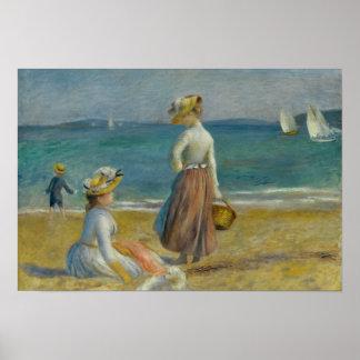 Póster Auguste Renoir - figuras en la playa