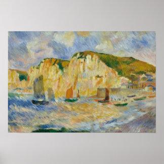 Póster Auguste Renoir - mar y acantilados