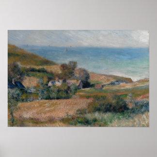 Póster Auguste Renoir - vista de la costa
