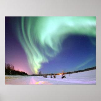 Póster Aurora - aurora boreal hermosa