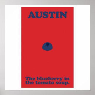 Póster Austin el arándano en la sopa del tomate