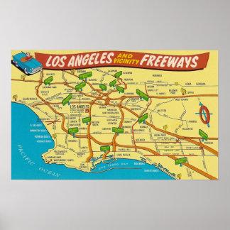 Póster Autopistas sin peaje de Los Ángeles