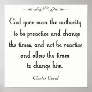 Póster Autoridad