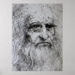 Poster - autorretrato de Leonardo da Vinci