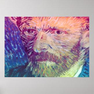 Póster Autorretrato de Van Gogh