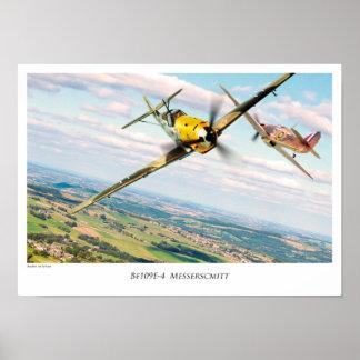 "Póster Aviation Art Poster ""Bf 109E"""
