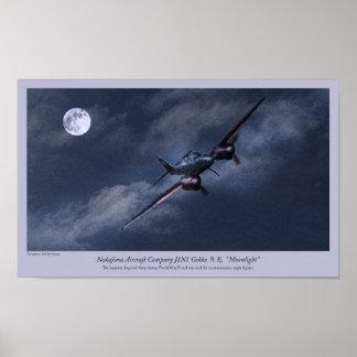 """Póster Aviation Art Poster """" Nakajima J1N Irving"""""""