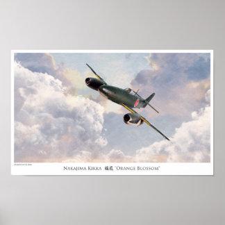 "Póster Aviation Art Poster ""Nakajima Kikka"""