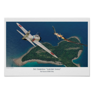 "Póster Aviation Art Poster ""Saburo Sakai"""