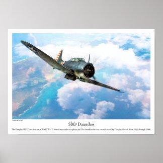 """Póster Aviation Art Poster """"SBD Dauntless"""""""