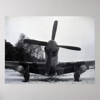 Póster Avión de combate de la guerra mundial 2