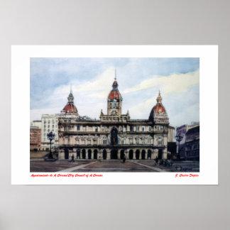 Póster Ayuntamiento de A Coruña/City Council of A Coruña