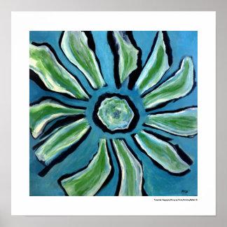 Poster azul abstracto de la decoración del hogar
