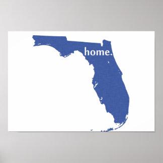 Póster Azul casero de la Florida