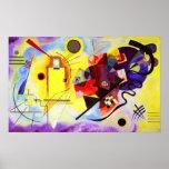 Poster azul rojo amarillo de Kandinsky