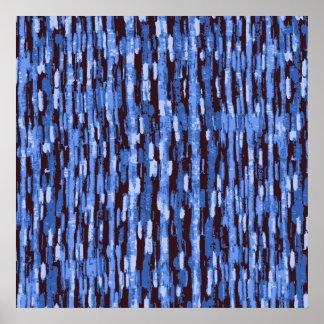 Poster azul y negro cuadrado del fondo del camufla