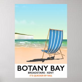 Póster Bahía de la botánica, poster del viaje de