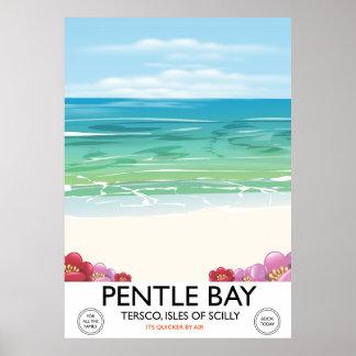Póster Bahía de Pentle, Tresco, islas de Scilly