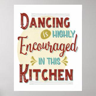 Póster Baile adentro alentador altamente en esta cocina