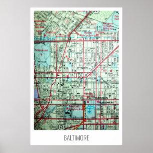 Póster Baltimore, Mapa de cosechas MD