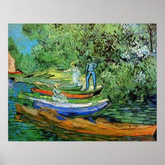 Póster Banco del Oise en Auvers de Vincent van Gogh