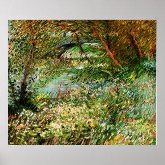 Póster Bancos del Sena en la primavera - Van Gogh