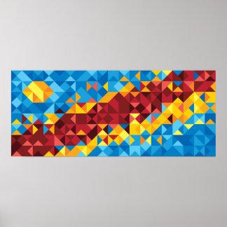 Póster Bandera abstracta de Congo, el República del Congo