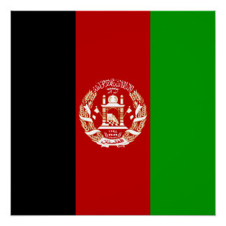 Póster Bandera afgana patriótica