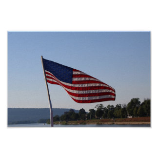 Póster Bandera americana