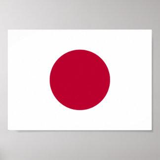 Póster Bandera de Japón