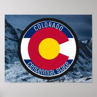 Póster Bandera de la circular de Colorado