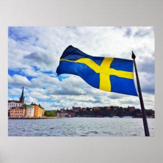 Póster Bandera de Suecia