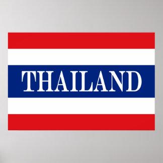 Póster Bandera de Tailandia