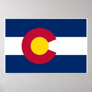 Póster Bandera del estado de Colorado
