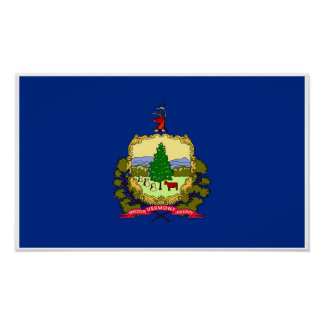 Póster Bandera del estado de Vermont