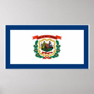 Póster Bandera del estado de Virginia Occidental