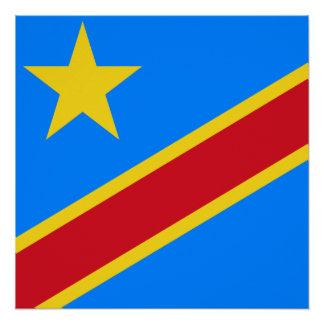Póster Bandera del mundo de República Democrática del