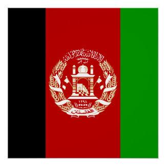 Póster Bandera nacional del mundo de Afganistán