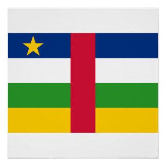 Póster Bandera nacional del mundo de la República