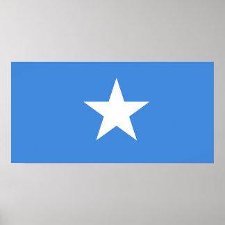 Póster Bandera nacional del mundo de Somalia