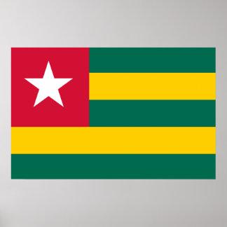 Póster Bandera nacional del mundo de Togo