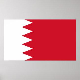 Póster Bandera patriótica de Bahrein