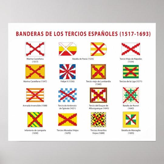 Póster Banderas de los Tercios Españoles