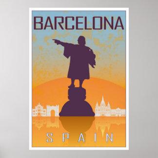Póster Barcelona vintage poster
