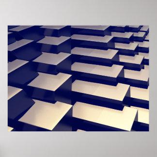 Póster barras de oro 3D