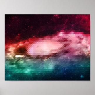 Poster básico de los triángulos del espacio del póster
