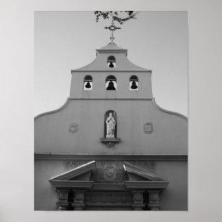 Póster Basílica St Augustine la Florida B&W de la