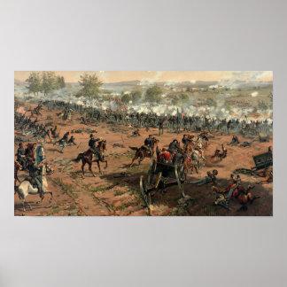 Póster Batalla del poster de Gettysburg
