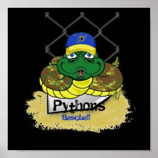 Póster Béisbol Pythons2